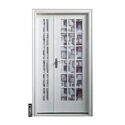 Prime Gold Steel,Glass PGSM-2 Decorative Glass Door, For Home, Thickness: 70 Mm