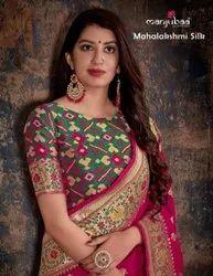 Manjubaa Mahalakshmi Banarasi Silk Fancy Saree Catalog