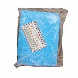 Blue Plain Disposable Plastic Aprons, Size: Large