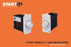 Start Up White 4 Step N-1 On Ceiling Fan Regulator Roma Modular, Size: Standard
