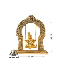 Lord Baby Krishna Sitting In Jhula