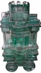 Glass Hampi Chariot, For Interior Decor
