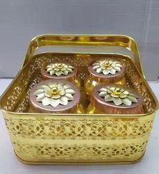 Metal Basket Wedding Gift Corporate Gift Diwali Gift