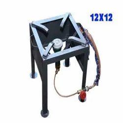 Iron Single Burner Gas Stove, Size: 12x12 Inch