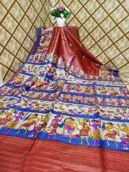 Printed Bhagalpuri Saree, 6.5 m (with blouse piece)