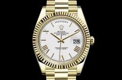 Golden Stainless Steel Day Date 40 Watches