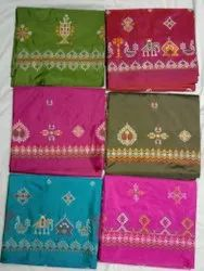 Hand Emborder Karnataka Kasuri Saree, Dry Clean, 6 M (With Blouse Piece)