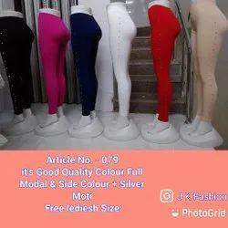 Modal Straight Fit Laddies Plain Leggings, Size: Free Size