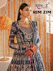 Rinaz Fashion Rim Zim Vol 2 Butterfly Net With Heavy Embroidery Work Pakistani Suit Catalog