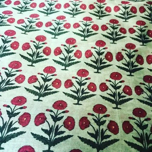Floral Print Cotton Silk Fabric