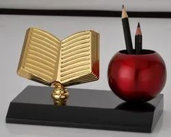 Piru Pooja Metal Corporate Pen Stand, For Office