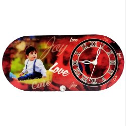 VHPC-38 Sublimation Hardboard Photo Clock Frame
