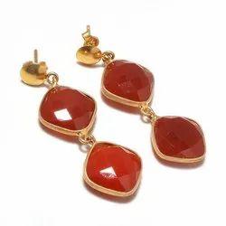jewellery Women carneline silver earring