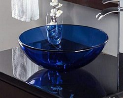 Counter Top Gass Wash Basin Bowl Size :- 16x16