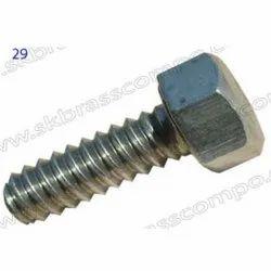 Brass Din Bolt, Rod Thickness: 8 mm, Size: 4