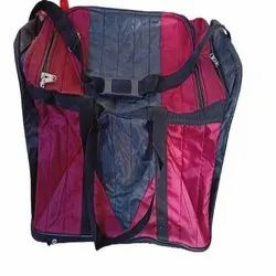 Red & Black Polyester Travel Luggage Bags, For Travelling