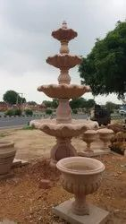 Red stone Fountain