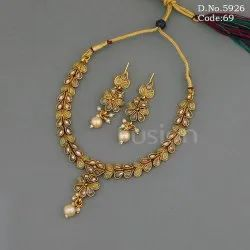 Antique Indian Polki Necklace Set