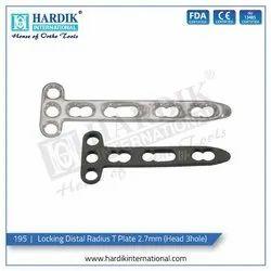Locking Distal Radius T Plate 2.7mm (Head 3Hole)