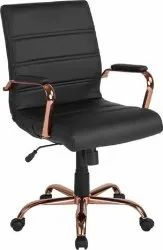 Leather Idecor Black Rotating Office Chair