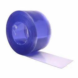 Transparent Blue PVC Strip Roll