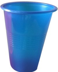 Blue Plain 200 ML Disposable Plastic Glasss