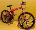 Red Mercedes Benz Foldable Cycle