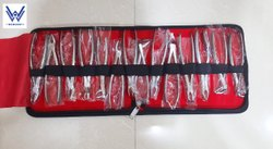 Silver Wowdent Stainless Steel Manual Set Of 14 Dental Extraction Forceps Kit