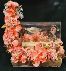 Metal Wedding Card Decoration