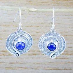 925 Sterling Silver Jewelry Amethyst Gemstone Handmade Earring