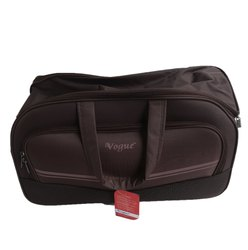 Hand Handled Brown Plain Traveling Luggage Bag