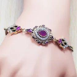 925 Sterling Silver Ruby Gemstone Bracelet SJWBR-81