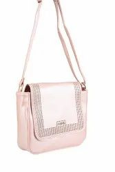 Pu Leather Embroidered Ladies Sling Bags
