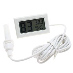 Digital Thermometer Temperature Sensor & Humidity Meter With Probe