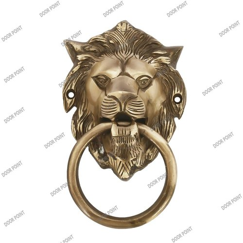 Lion Shape Brass Door Knocker