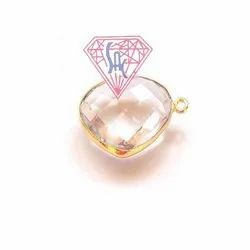 Rose Quartz Bezel Connector