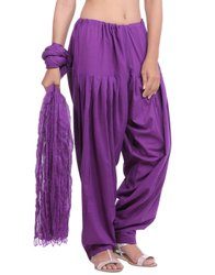 Jaipur Kurti Pure Cotton Purple Patiala Salwar and Dupatta Set