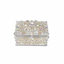 Square Cut Work Jewelry Box