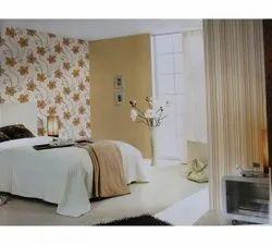 Brown Floral Printed Wallpaper Designing Service