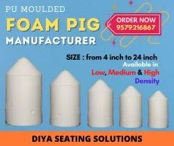 Diya White PU Moulded Foam Bullet Pig, For Industrial, Size: 4 Inches To 24 Inch