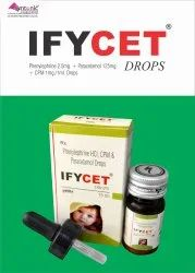 Ifycet Phenylephrine HCl CPM and Paracetamol Drop, Packaging Type: Bottle, Dose: 2.5mg+125mg+1mg