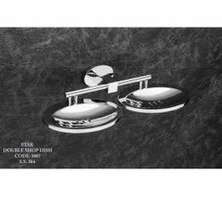 Stainless Steel SS Star Double Soap Dish, Material Grade: SS304, Size: 8 Inch