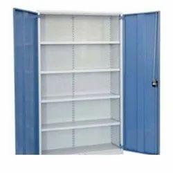 Blue And White Mild Steel Office Cupboard, No. Of Doors: 2 Door