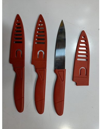 Red Handle Kitchen Knife Set At Rs 80 Dozen Kitchen Knife Set Knives Set च क क स ट Payal Enterprises Mumbai Id 22958800291