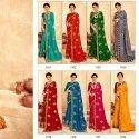 Vichitra Silk With Fancy Blouse Saree