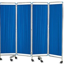 4 Fold Hospital Bedside Screen