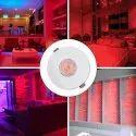 Ceiling Downlight With Jbox Red 2 Watt LED Light Ceiling Round Spot Light Lamp Bulb