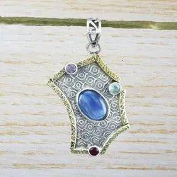 925 Sterling Silver Jewelry Kyanite Gemstone Pendant
