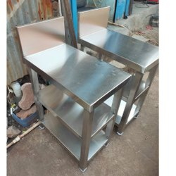 Silver Polished Stainless Steel Table, For Restaurants