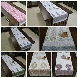 COTTON HAND BLOCK PRINTED TABLE RUNNER